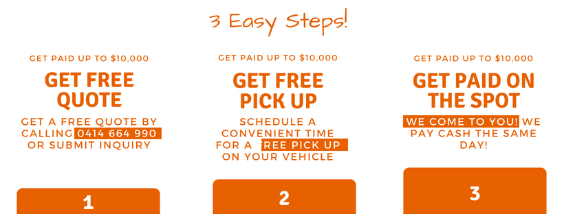 3 easy cash for car removal steps